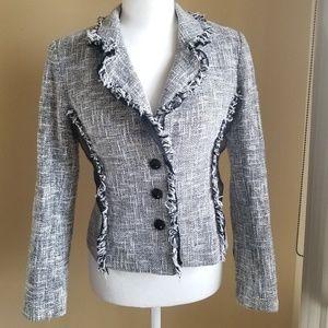 WHBM Knit 100% Cotton Houndstooth Blazer EUC